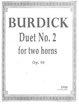 Duet No.2 for two horns (1988 rev. 2007)