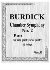 Chamber Symphony No.2 'Pan' for wind quintet, brass quintet and strings – Score
