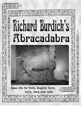 Abracadabra for flute, English horn, horn, harp and cello